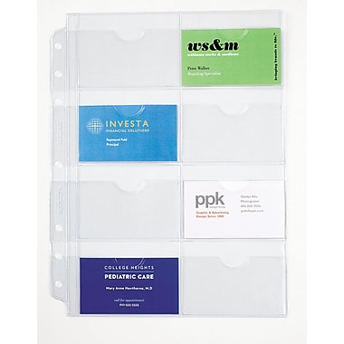 Day-Timer® Business/Credit Card Holders, Size 5, 8 1/2in. x 11in., Clear, (D87325B)