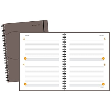 AT-A-GLANCE® Plan.Write.Remember.® Two Days Per Page Planning Notebook, Undated, 8 3/8