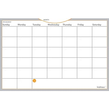 2018 AT-A-GLANCE® WallMates® Self-Adhesive Dry-Erase Monthly Planning Surface, Undated, 18
