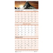 2018 House of Doolittle 12.25 x 26 Wall Calendar 3 Month View Earthscapes Scenic (3638)