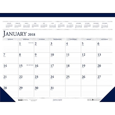 2018 House of Doolittle 18.5 X 13 Desk Pad Calendar Economy (1506)