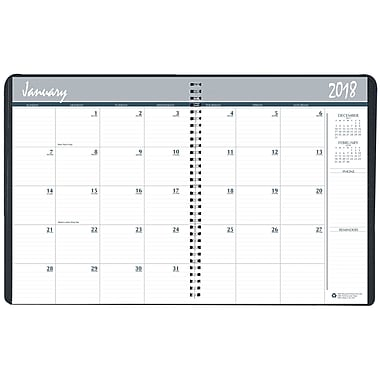 2018-2019 House of Doolittle 8.5 x 11 Two Year Monthly Planner Black/Blue (2620-02)