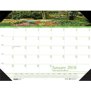 2018 House of Doolittle 22 X 17 Desk Pad Calendar Earthscapes Gardens (174)