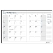2018 House of Doolittle 8.5 x 11 Economy Monthly Planner Black/Blue (260-02)