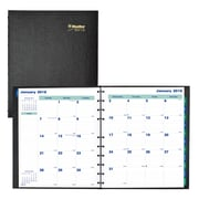 "2018 Blueline® 11"" x 9-1/16"" MiracleBind™ Monthly Planner, 17 Months, Hard Cover, Black (CF1512C.81)"