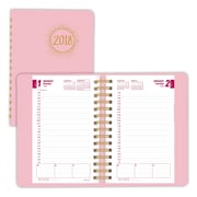 "2018 Brownline® 8"" x 5"" Pink Ribbon Soft Cover Daily Appointment Book / Planner, 8"" x 5"" Pink (CB634W.PNK)"