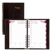 "2018 Brownline® 8"" x 5"" CoilPro™ Hard Cover Daily Appointment Book / Planner, Black (CB634C.BLK)"