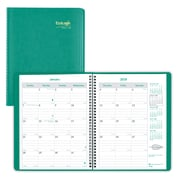 "2018 Brownline® 11"" x 8-1/2"" EcoLogix® Monthly Planner, 14 Months, Recycled, Green (CB435W.GRN)"