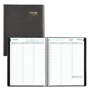 "2018 Brownline® 11"" x 8-1/2, EcoLogix® Weekly Appointment Book, 100% Recycled, Black (CB425W.BLK)"