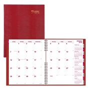 "2018 Brownline® 11"" x 8-1/2"" CoilPro™ Hard Cover Monthly Planner, 14 Months, Red (CB1262C.RED)"