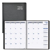 "2018 Blueline® 11"" x 8-1/2"" Net Zero Carbon™ Monthly Planner, 14 Months, Soft Cover, Black (C835.81T)"
