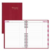 "2018 Brownline® 10-1/8"" x 7-7/8"" CoilPro™ Hard Cover Daily Planner, Red (C550C.RED)"