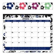 "2018 Brownline® 22"" x 17"" Monthly Desk Pad Calendar, Blossom Design (C194112)"