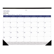 "2017-2018 Blueline® DuraGlobe™ 22"" x 17"" Academic Monthly Desk Pad Calendar July '17-July '18 (CA177227-18)"