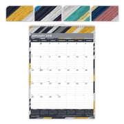 "2018 Brownline® 12"" x 17"" Monthly Wall Calendar, Colorful Geometric Design (C173122)"