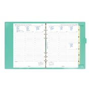 "2018 Filofax® C022515, 9-1/4"" x 7-5/8"", High Gloss Patent, A5 Domino Patent Weekly Organizer, Turquoise"