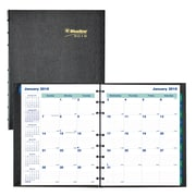 "2018 Blueline® 9-1/4"" x 7-1/4"" MiracleBind™ Monthly Planner, 17 Month, Hard Cover, Black (CF1200C.81)"