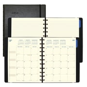 "2018 Filofax® 10-7/8"" x 8-1/2"" Monthly Planner, 17 Months, Soft Cover, Black (C1811001)"