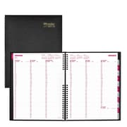 "2018 Brownline® 11"" x 8-1/2"" CoilPro™ Hard Cover Weekly Appointment Book, Black (CB950C.BLK)"