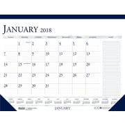 2018 House of Doolittle 18.5 x 13 Desk Pad Calendar Two Color with Notes, Blue/Gray (1646)