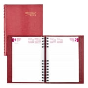 "2018 Brownline® 8-1/4"" x 5-3/4"" CoilPro™ Hard Cover Daily Planner, Red (C389C.RED)"