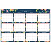 "2018 Day Designer for Blue Sky 36"" x 24"" Monthly Laminated Planner, Peyton Navy (103632)"