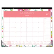 "2018 Day Designer for Blue Sky 22"" x 17"" Monthly Desk Pad Calendar, Peyton White (103631)"
