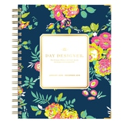 "2018 Day Designer for Blue Sky 7"" x 9"" Weekly/Monthly Hardcover Planner, Peyton Navy (103626)"
