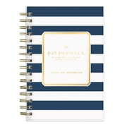 "2018 Day Designer for Blue Sky 5"" x 8"" Daily/Monthly Planner, Navy Stripe (103623)"