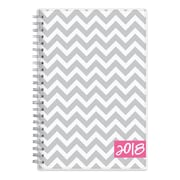 "2018 Dabney Lee for Blue Sky 5"" x 8"" Weekly/Monthly Planner, Gray Ollie (102133)"
