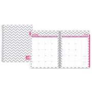 """2018 Dabney Lee for Blue Sky 8.5"""" x 11"""" Weekly/Monthly Planner, Gray Ollie (102129)"""