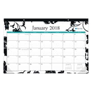 "2018 Blue Sky 17"" x 11"" Monthly Desk Pad Calendar, Barcelona (100020)"