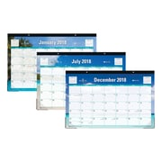 "2018 Blue Sky 17"" x 11"" Monthly Desk Pad Calendar, Endless Summer (103566)"