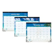 "2018 Blue Sky 22"" x 17"" Monthly Desk Pad Calendar, Endless Summer (103565)"