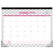 "2018 Dabney Lee for Blue Sky 22"" x 17"" Monthly Desk Pad Calendar, Gray Ollie (102137)"