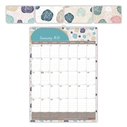 "2018 Brownline® 12"" x 17"" Begonia Monthly Wall Calendar, Floral-Themed (C173123)"