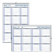 "2018 Blueline® 24"" x 36"" Net Zero Carbon™ Yearly Erasable Wall Calendar, Reversible, Vertical/Horizontal, White (C177868)"