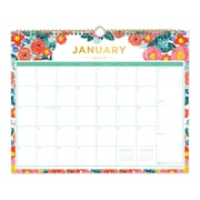 "2018 Day Designer for Blue Sky 15"" x 12"" Monthly Wall Calendar, Floral Sketch (103268)"