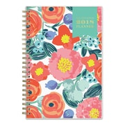 "2018 Day Designer for Blue Sky 5"" x 8"" Weekly/Monthly Planner, Floral Sketch (103251)"