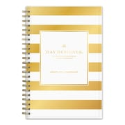 "2018 Day Designer for Blue Sky 5"" x 8"" Daily/Monthly Planner, Gold Stripe (103139)"