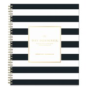 "2018 Day Designer for Blue Sky 8"" x 10"" Daily/Monthly Planner, Black Stripe (103138)"
