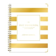 "2018 Day Designer for Blue Sky 6"" x 8"" Weekly/Monthly Hardcover Planner, Gold Stripe (103137)"