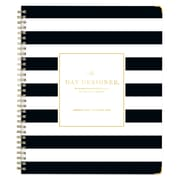"2018 Day Designer for Blue Sky 8"" x 10"" Weekly/Monthly Hardcover Planner, Black Stripe (103136)"