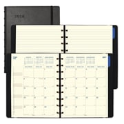 "2018 Filofax® 9-1/4"" x 7-1/4"" Monthly Planner, 17 Months, Soft Cover, Black (C1891003)"