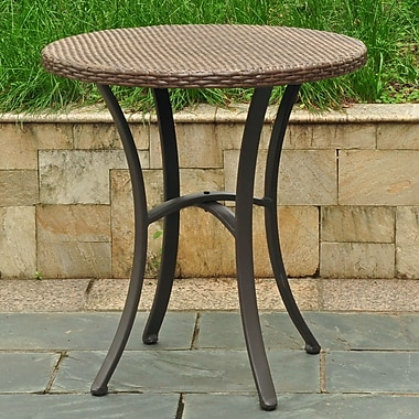 Brayden Studio Katzer Bistro Table; Antique Brown