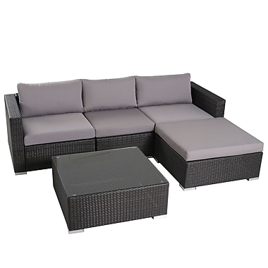 Brayden Studio Murillo 5 Piece Seating Group; Silver Gray