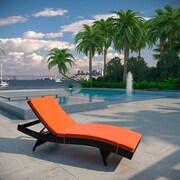 Brayden Studio Ludwick Chaise Lounge w/ Cushion; Orange
