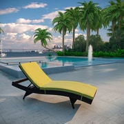 Brayden Studio Ludwick Chaise Lounge w/ Cushion; Peridot