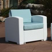 Brayden Studio Loggins Patio Chair w/ Cushion