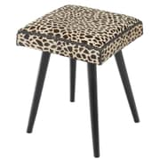 World Menagerie Bowtell Cow Hide/Mahogany Vanity Stool